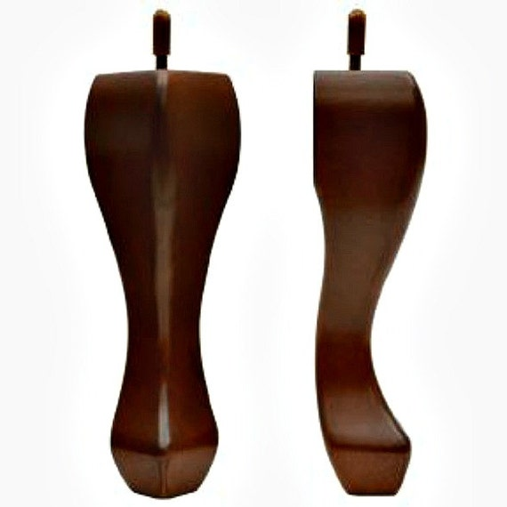 Queen Anne Furniture Leg Feet Walnut Finished Wood Couch