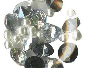 Blue Moon Beads Story Lockets Acrylic Charm, Diamonds, Assortment 032361
