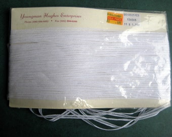 "Vintage Very Narrow White Trim 20 Yards + 1/8"" wide Youngman Hughes Dolls Crafts"