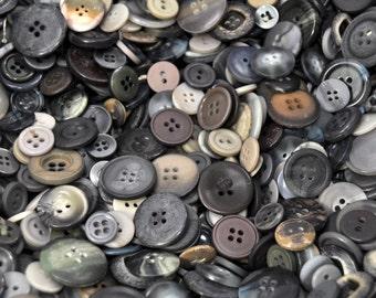 1/2 Pound Grey Button Lot /466