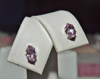 Tanzanian Pink Sapphire 5 x 3 MM .61 TCW Oval Stud Earrings