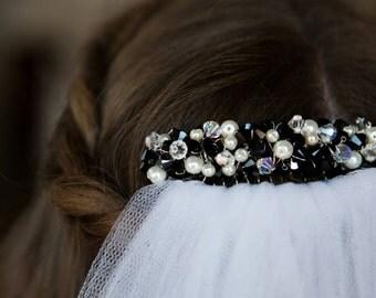 Elegant Bridal Headpiece, Formal Headpiece, Decorative Comb, Bridesmaid, Wedding.