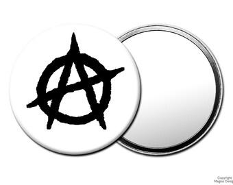 Anarchy Symbol Pocket Mirror,  Skateboard, Skater, Skate Punk Fashion Accessories, Urban Street Style M119