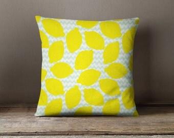 Lemon Pillow | Lemon Decor | Fruit Pillow | Yellow Throw Pillow | Yellow Pillow | Yellow Cushion | Yellow Pillow Sham | Lemon Throw Pillow