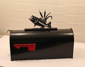 Bass Fish -Mailbox Topper- Metal Outdoor Art