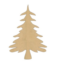 Christmas Tree Cutout Shape Laser Cut Unfinished Wood Shapes, Craft Shapes, Gift Tags, Ornaments #632 All Sizes