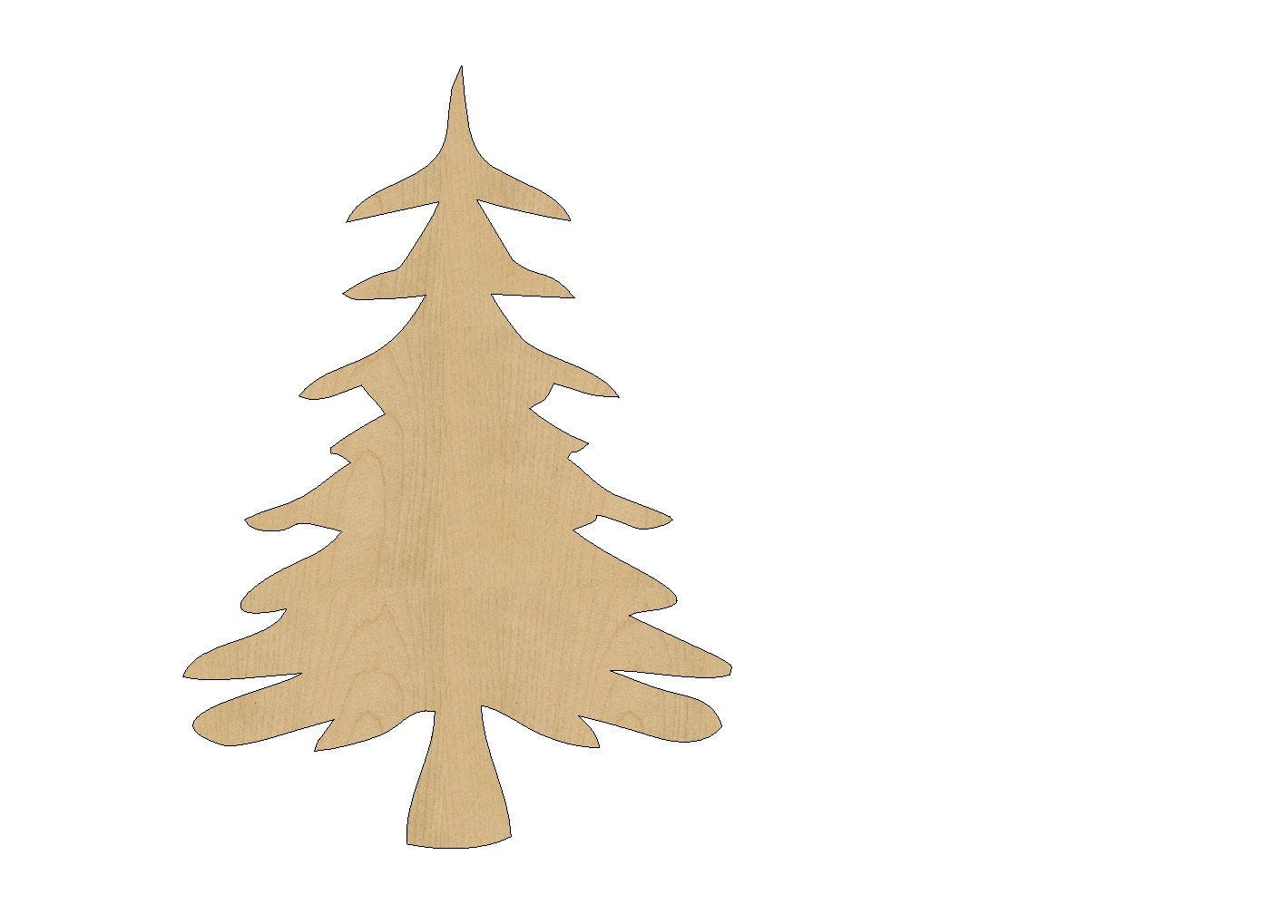 Christmas tree cutout shape laser cut unfinished wood shapes for Wooden christmas cutouts