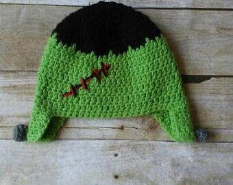 Frankenstein hat - monster hat - halloween hat - frankenstein costume - halloween outfit - halloween photo prop - all sizes