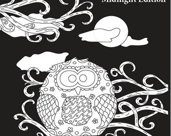 Night Owls: An Adult Coloring Book