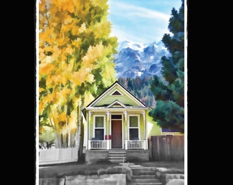 Adult Coloring Books: Mountain Cottages 45 Designs Colouring Book Fun and Relaxing