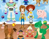 Toy clipart, toys, cowboy clipart, story of toys, toys story, toy story -LN0123-