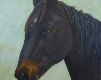 Custom Horse Painting, pet gift, painting on canvas, horse painting, horse art, horse lover gift, horse portrait, paint from photo