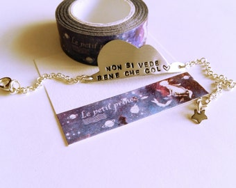 "Bracelet of the little Prince ""one sees clearly only with the heart"""