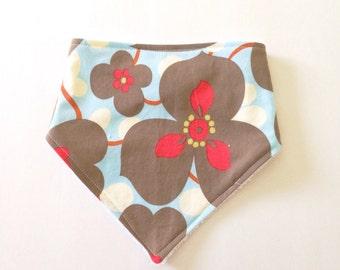 Floral Bandana Baby Bib - Baby Girl - Baby Shower Gift