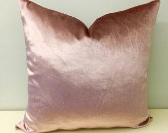 Pink Velvet Pillows, Blush Pink Velvet Pillow Cover, Pink Pillows, Pink Velvet Cushion Covers, Velvet Pillows, Pink Velvet Throw Pillows