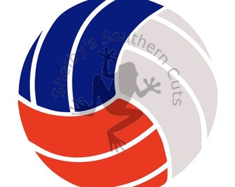 Tri-Color VolleyBall SVG