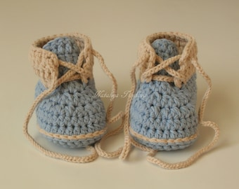 Crochet baby booties/Boys booties /Crochet boots /Baby booties /Crochet Baby Shoes