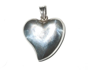 "Silverplate 1"" Heart Pendant"