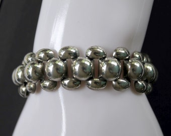 Mid-Century Vintage Danecraft Sterling Silver Bracelet Excellent