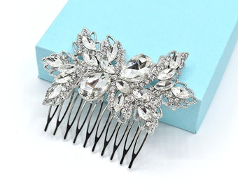 Wedding Hair Comb Bridal Rhinestone Crystal Hair Comb Wedding Headpieces