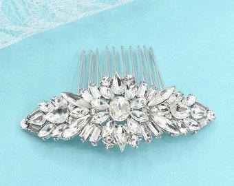 Swarovski Bridal Hair Comb Crystal Wedding Hair Comb Silver Wedding Headpieces