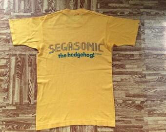 vintage 80s gamesoul Segasonic hedgehog t shirt small size