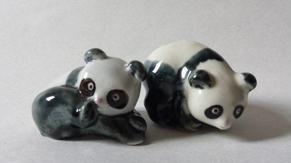 Vintage Panda Bear Figurines Porcelain Bears Animal