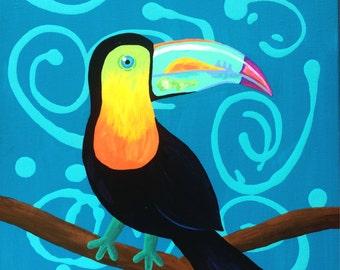 Tropical Toucan Canvas