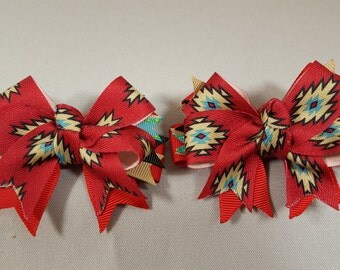 Southwest Sunset Hairbow (Pair)