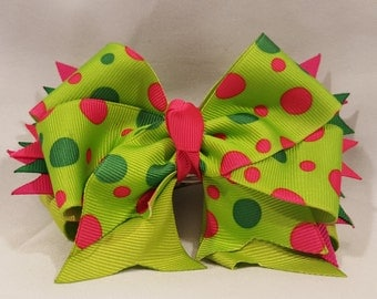 Spring Party Dots Hairbow