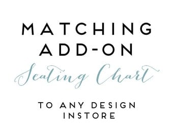 Add on SEATING CHART