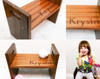 Personalized Heirloom Childs Chair, Kids Stool, Childrens Stool, Childs Chair, Childs Desk Chair, Kids Gift, Gift for Girl, Gift for Boy
