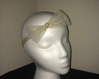 Gold Chevron Patterned Headband