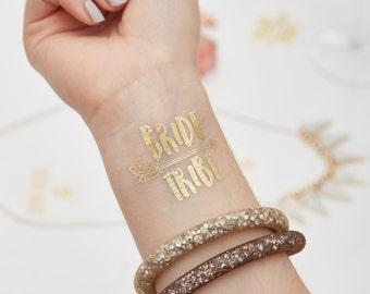 Gold Blitz Braut Stamm Pfeil temporäre Hochzeit Tattoo   Temporäre Tattoo   Bachelorette   Hen