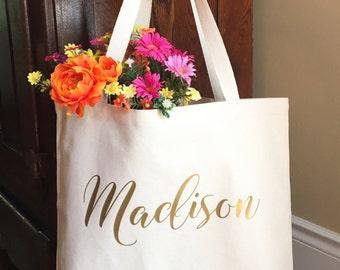Bridesmaid Tote Bag - Gifts for Bridesmaids - Personalized Bridesmaid Gift - Bridal Party Tote Bag - Monogram Tote Bag