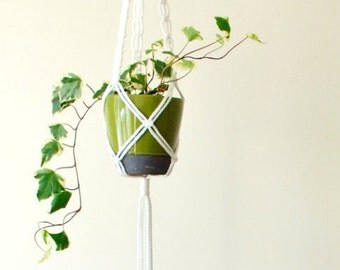 Macrame Plant Hanger // Hanging Planter // 42 inch long Plant Hanger // Customized Plant Hanger // Pot Hanger // HANNA