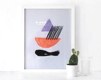 Abstract Art Print - sail away
