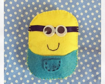 Minions tooth fairy pillow with pocket on the back