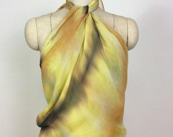 hand dyed silk scarf - Maidenhair