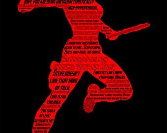 Marvel Avengers Black Widow Typographic Poster Print