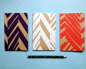 Screenprinted A6 Moleskine Notebook with abstract design