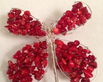 Butterfly with Red Coral