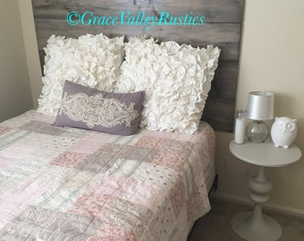 Floating Headboard/ Farmhouse Style Headboard/ Rustic Headboard/ Headboard/ Twin, full, queen, & king headboard