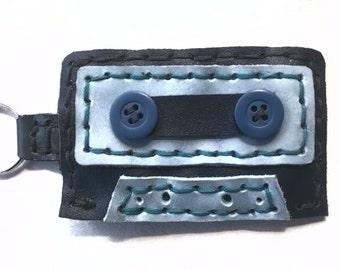 Keychain cassette tape (mixtape)