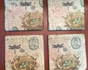 Decorative Spring Tiles Coasters