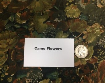 Camouflage Flowers Fabric - 1 and 7/8 Yard