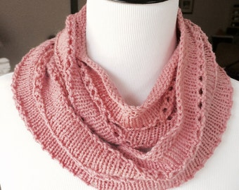 Pretty In Pink! Lightweight, Open, and Airy Infinity Scarf