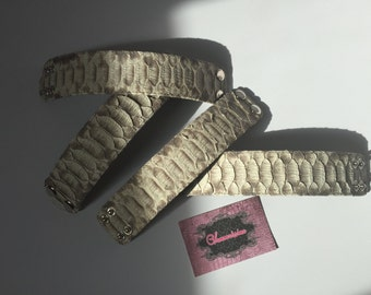 "Genuine Python Leather Bracelets ""Chic"""