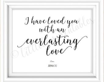 Captivating Jeremiah 31:3, I Have Loved You With An Everlasting Love, Bible Verse Great Pictures