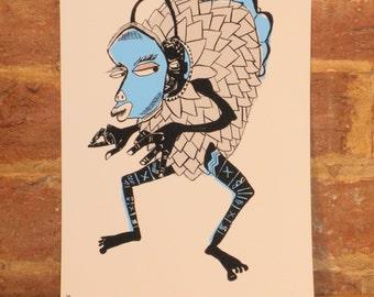 """A4 """"Caliban"""" Giclee Print"""